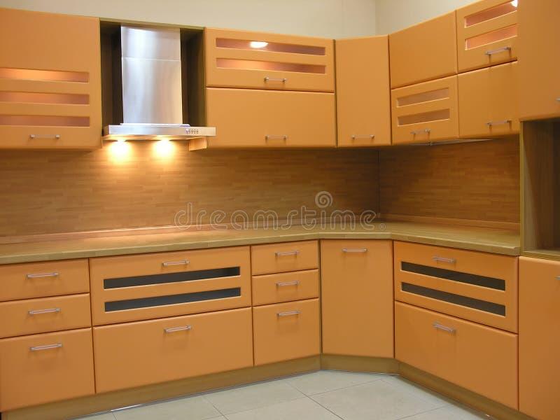Hellbraune Küche stockfoto. Bild von innen, küche, haupt - 1480724