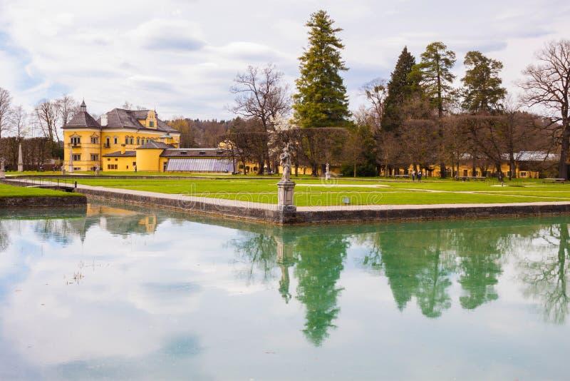 Hellbrunn宫殿Schloss Hellbrunn和公园,萨尔茨堡,奥地利 库存图片