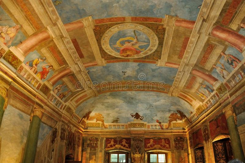 Hellbrunn pałac obraz zdjęcia stock