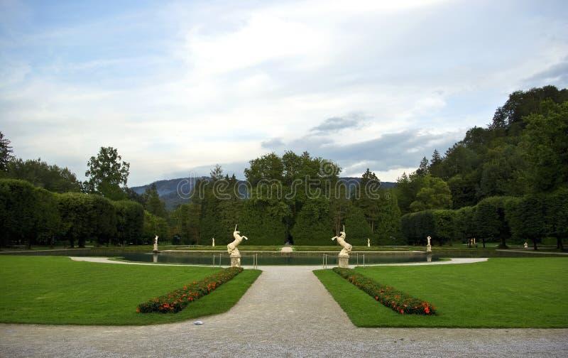 hellbrunn park zdjęcie stock