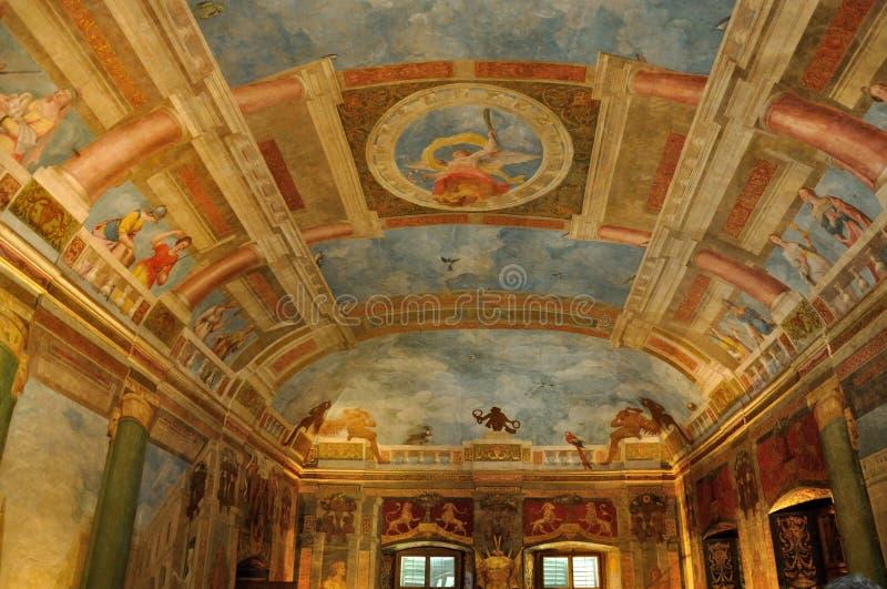 Hellbrunn slottmålning arkivfoton