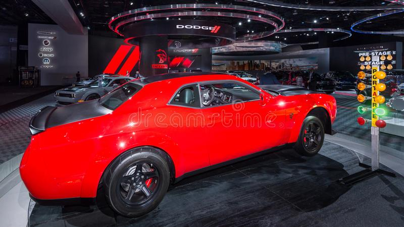 2018 Hellcat dello sfidante SRT di Dodge immagine stock libera da diritti