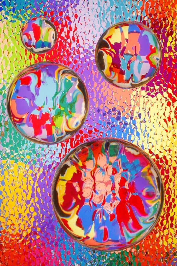 Helle abstrakte Farben u. Glas lizenzfreies stockbild