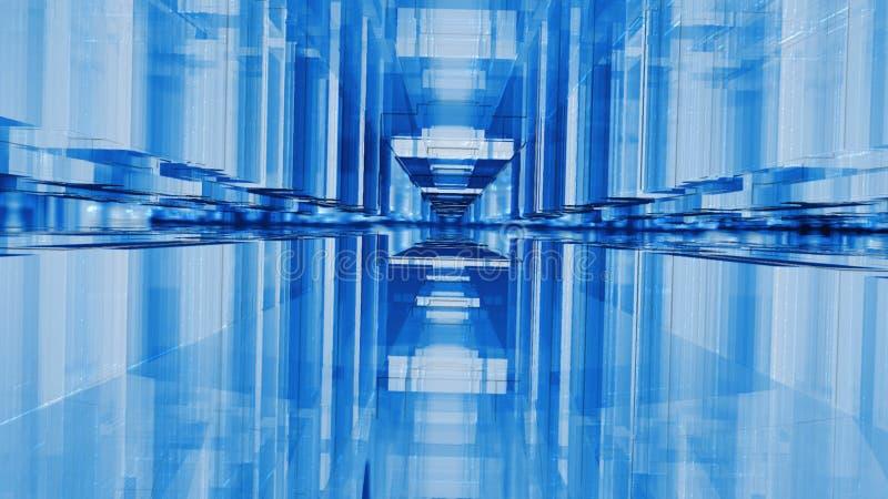 helle abstrakte Illustration des Hintergrundes 3d stockbild