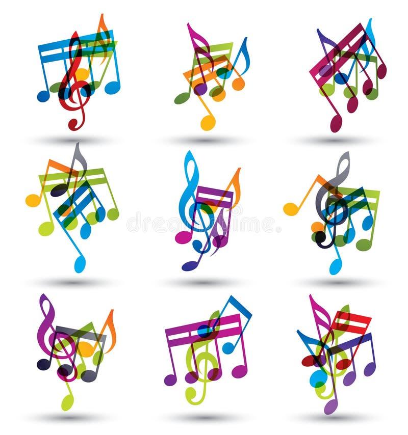 Helle Ausdrucksvolle Lustige Musikalische Anmerkungen Und Symbole ...