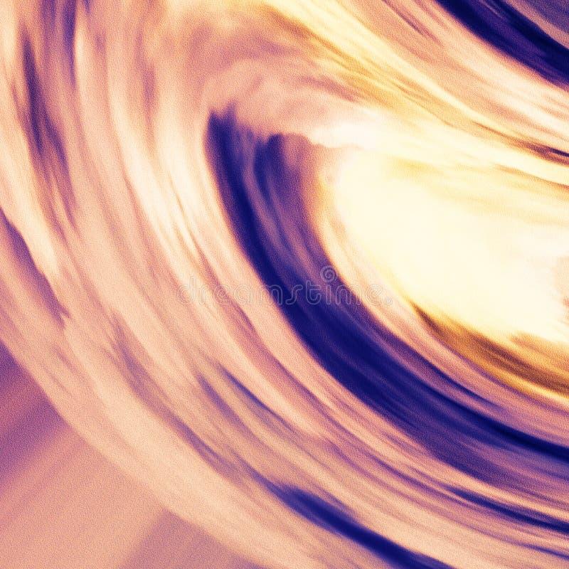 Helle Bürstenanschläge, die mit Standpunkt des Horizontes malen Kreative abstrakte Leinwandkopie lizenzfreie abbildung