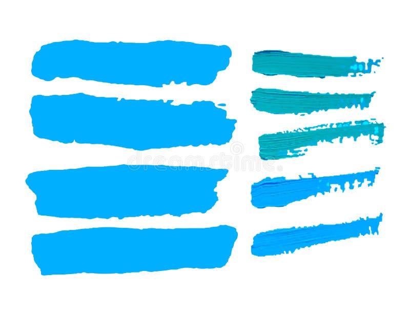 Helle blaue Ölfarbe-Vektorstelle auf einem weißen Hintergrund vektor abbildung
