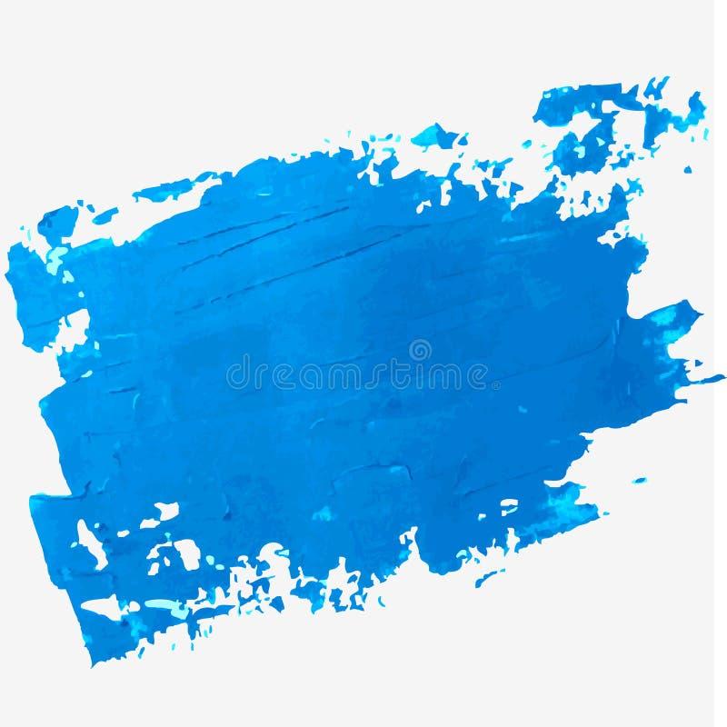 Helle blaue Ölfarbe-Vektorstelle auf einem weißen Hintergrund lizenzfreie abbildung