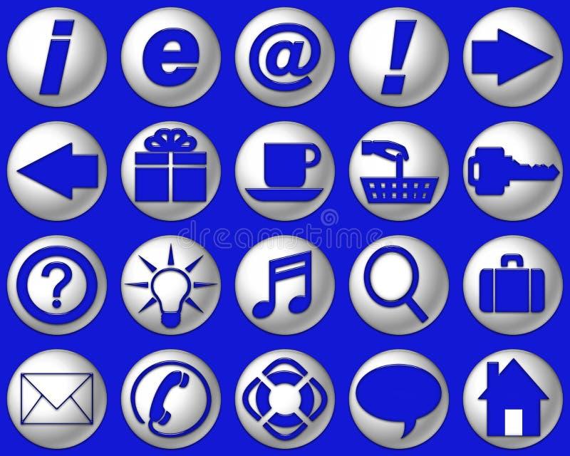 Helle blaue site-Tasten lizenzfreie abbildung