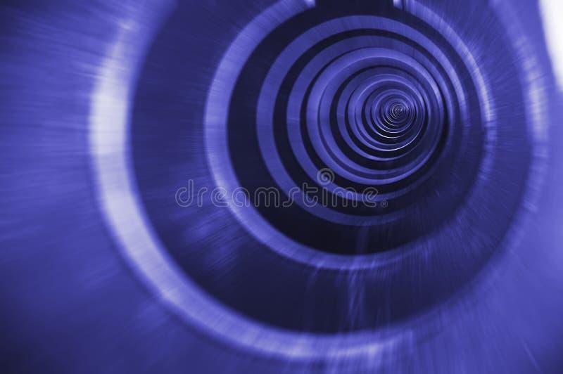 Helle blaue Spirale stockfotos