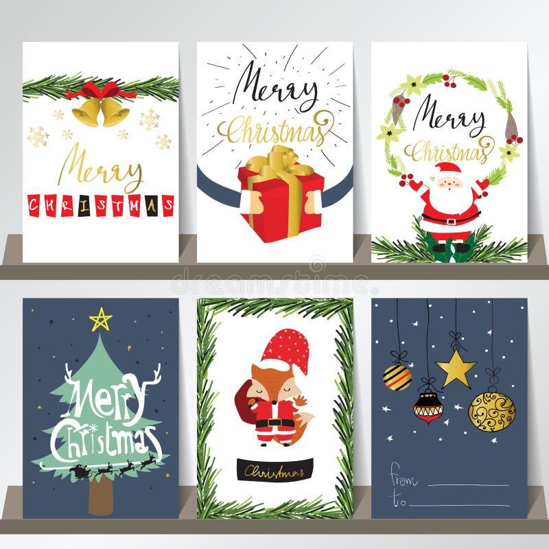 winter weihnachtskarte mit sankt und fox stock abbildung. Black Bedroom Furniture Sets. Home Design Ideas