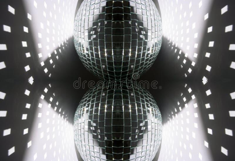 Helle Formen vom glitterball Muster stockfotos