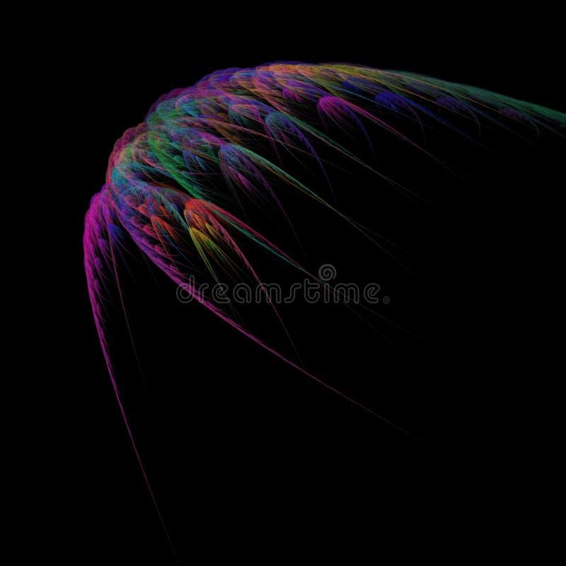 Helle Fractalabstraktion Abstraktion ist Vogelflügeln ähnlich Effekt des Fluges und der Bewegung vektor abbildung