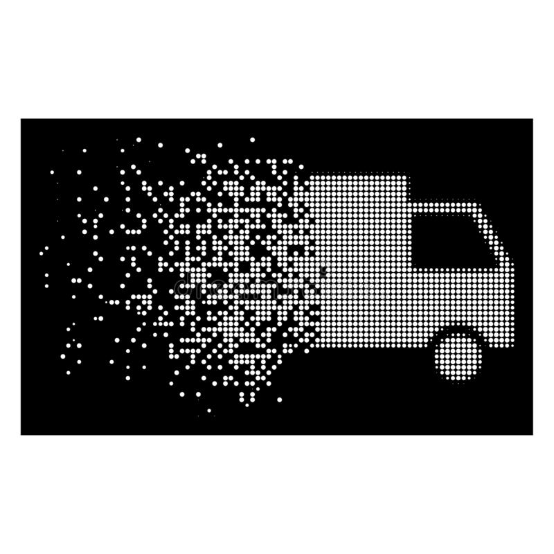 Helle gebrochene punktierte Halbtonfracht Van Icon lizenzfreie abbildung