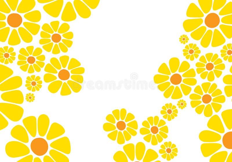 Helle gelbe Gänseblümchenblume stock abbildung