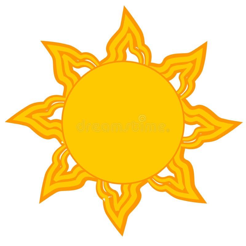 Helle gelbe Sun-Klipp-Kunst lizenzfreie abbildung