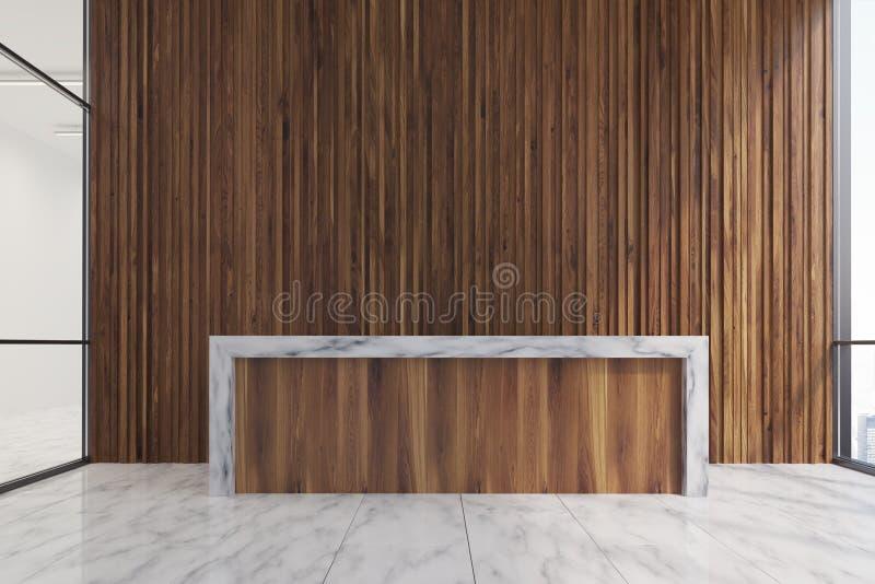 Helle hölzerne Aufnahme, hölzerne Wand vektor abbildung