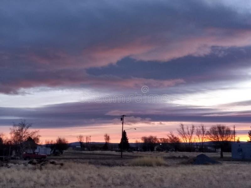 Helle Horizonte bei Sonnenuntergang stockfotografie