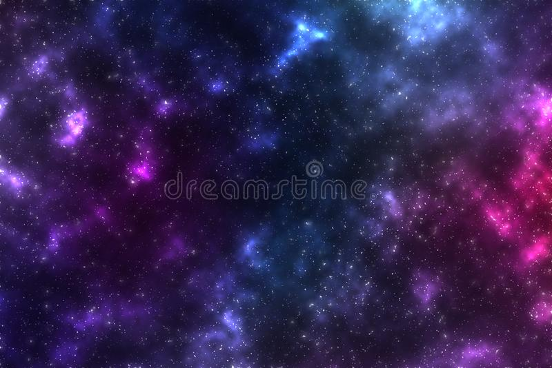 Helle mehrfarbige Beschaffenheit des Kosmos Kleine Sterne und Himmelskörper im Raum stockbilder