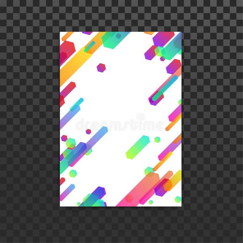 Helle Neonsteigungslinien Ordnerdesign stockbilder