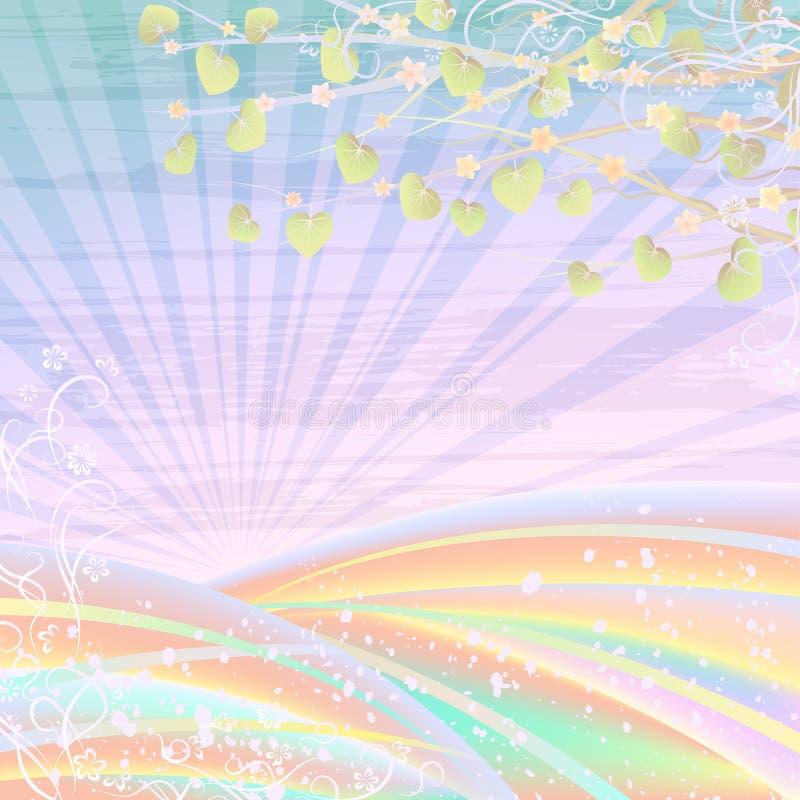 Helle Pastelllandschaft stock abbildung