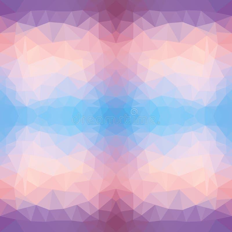 Helle Polygonbeschaffenheit des Seesonnenuntergangs für modernes Design Auch im corel abgehobenen Betrag Sonnenuntergang dreiecki vektor abbildung