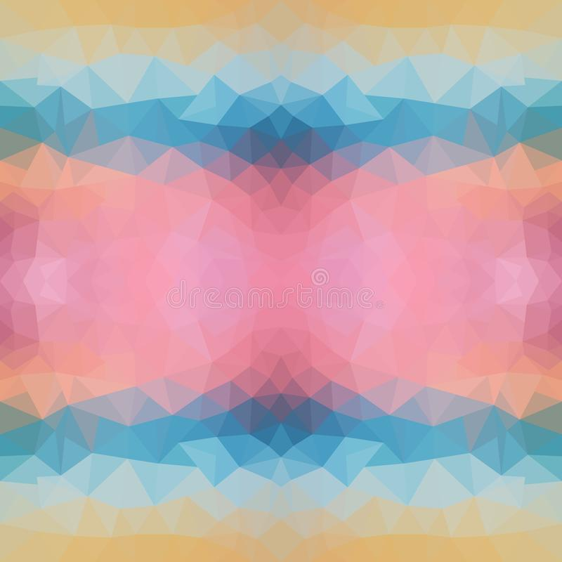 Helle Polygonbeschaffenheit des Seesonnenuntergangs für modernes Design Auch im corel abgehobenen Betrag Sonnenuntergang dreiecki lizenzfreie abbildung