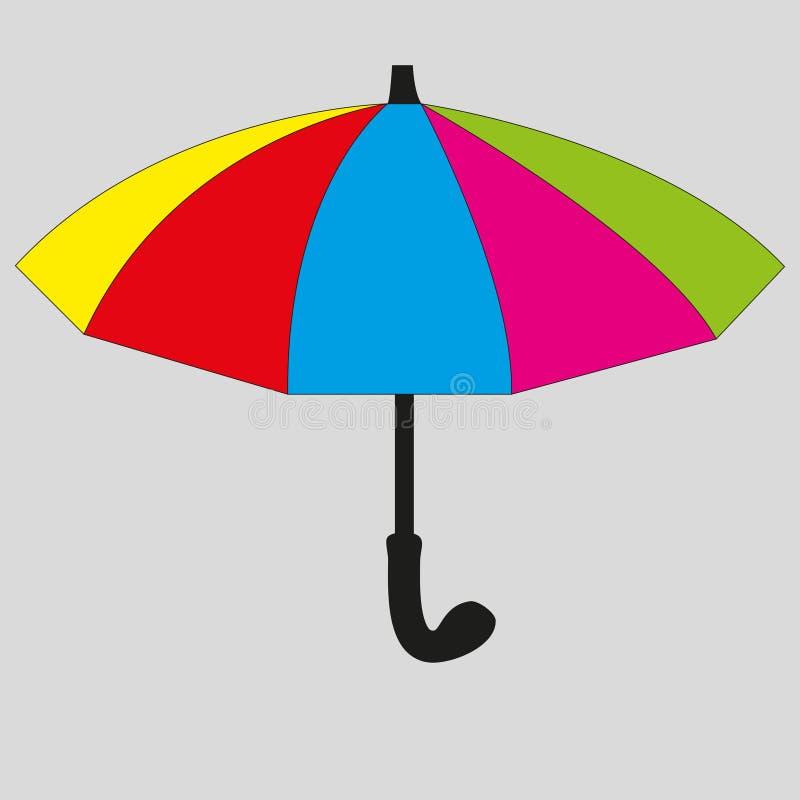 Helle Regenschirmikone lizenzfreie stockfotos