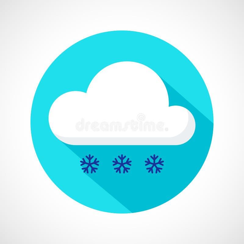 Helle Schneefälle verwittern Ikone stock abbildung