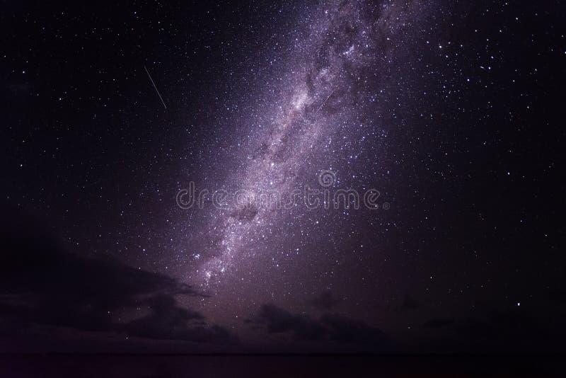 Helle Sterne der Milchstraßegalaxie stockbild