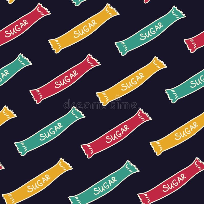 Helle Taschen des Zuckers Nahtloses Muster für Ihre Auslegung stockbilder
