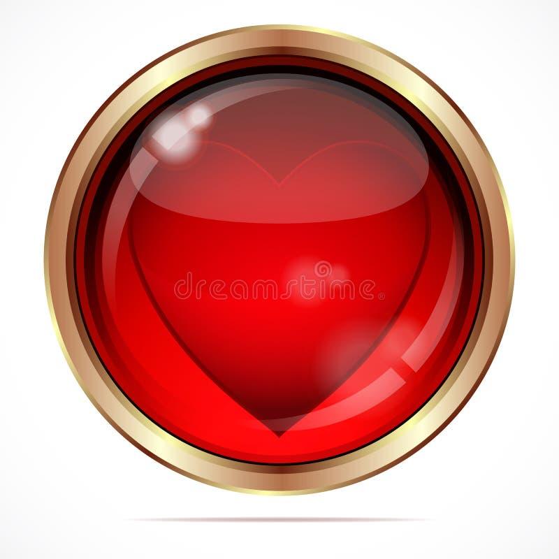 Helle Taste mit einem roten Inneren. stock abbildung