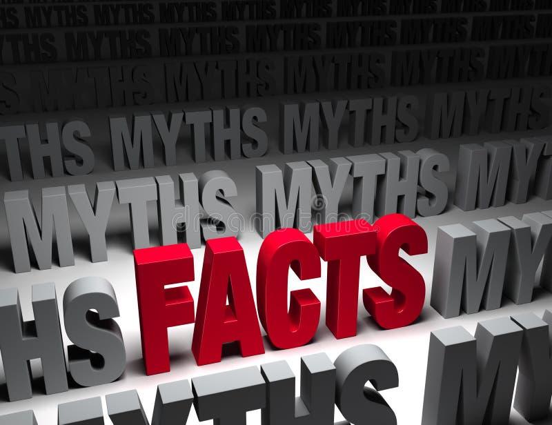 Helle Tatsachen gegen dunkle Mythen lizenzfreie abbildung