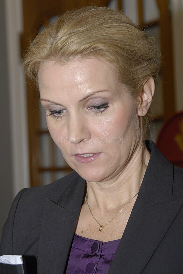 Helle Thorning - Schmidt am christiansborg lizenzfreie stockfotografie