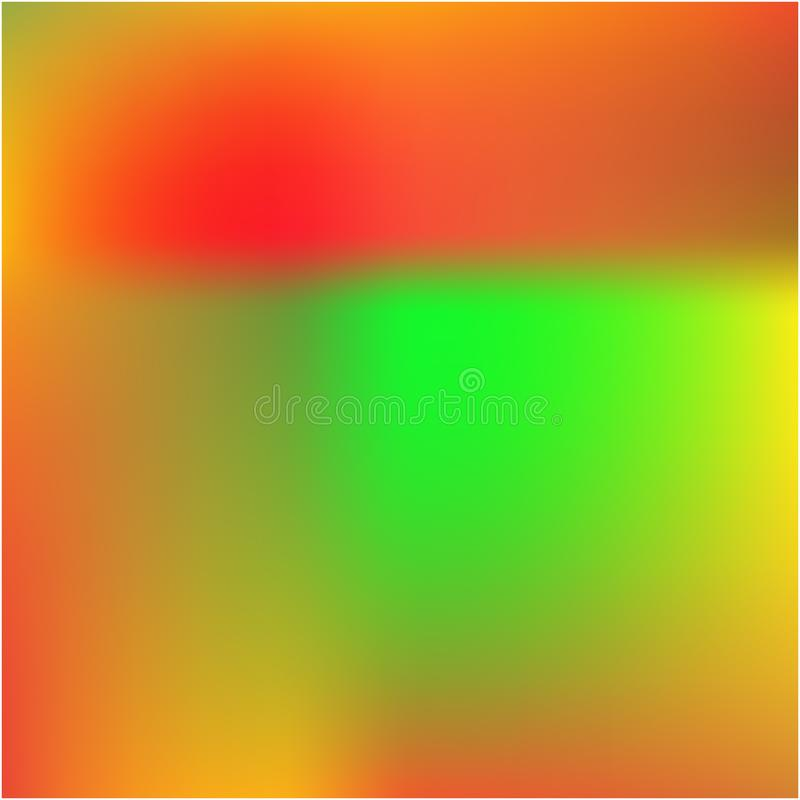 Helle unscharfe Grafiken von den verschiedenen Kombinationen von Farben und von Schatten vektor abbildung