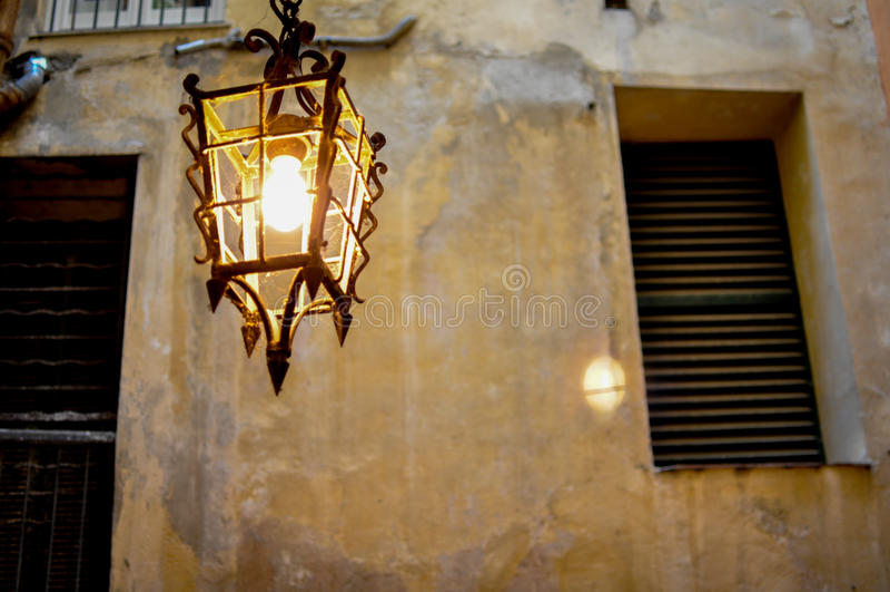 Helle Wandlampe der Weinlese lizenzfreie stockbilder