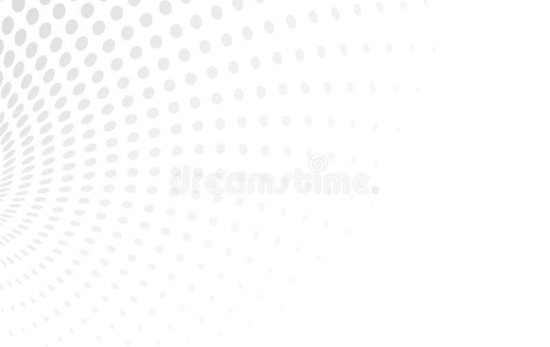 Helle weiße Vektorhalbtonillustration von bestehen Kreise punkt stock abbildung