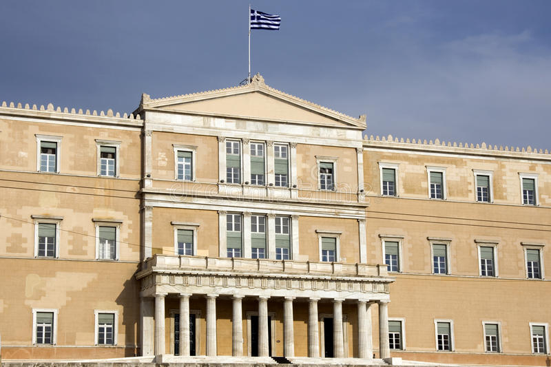 Hellenic Parliament of Greece - Athens royalty free stock photography