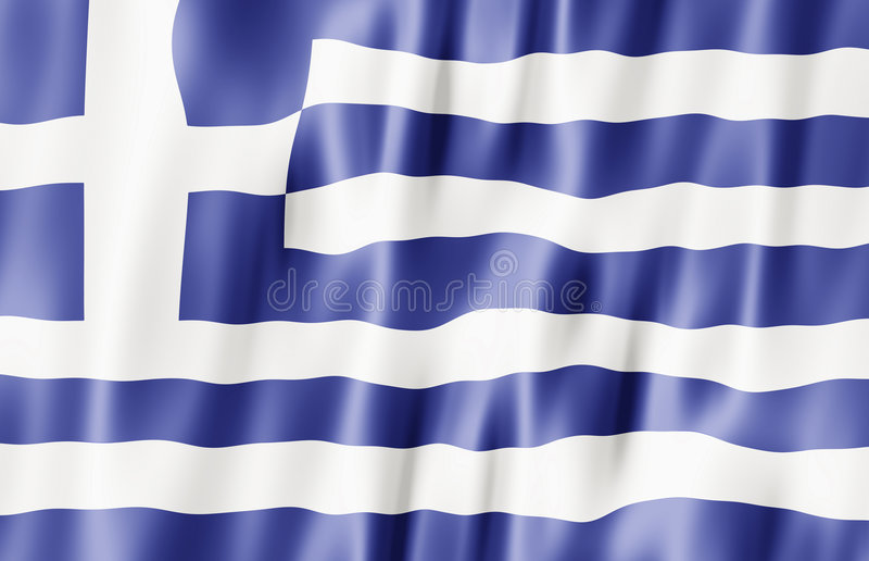 Hellenic Republic, Greece Flag Stock Images