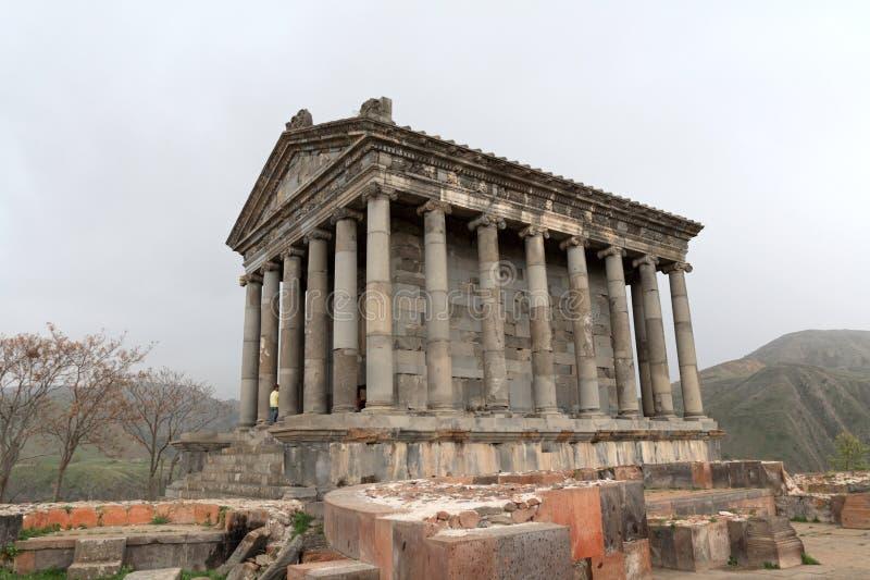 hellenistic ναός garni στοκ εικόνα