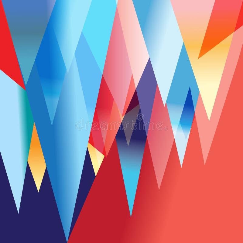 Heller abstrakter fantastischer Hintergrund stock abbildung