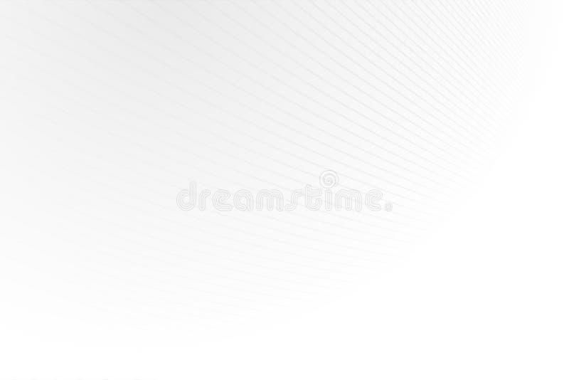 Heller abstrakter Hintergrund mit Unendlichkeitslinien Gestreifte weiße und graue Beschaffenheit Säubern Sie Design vektor abbildung