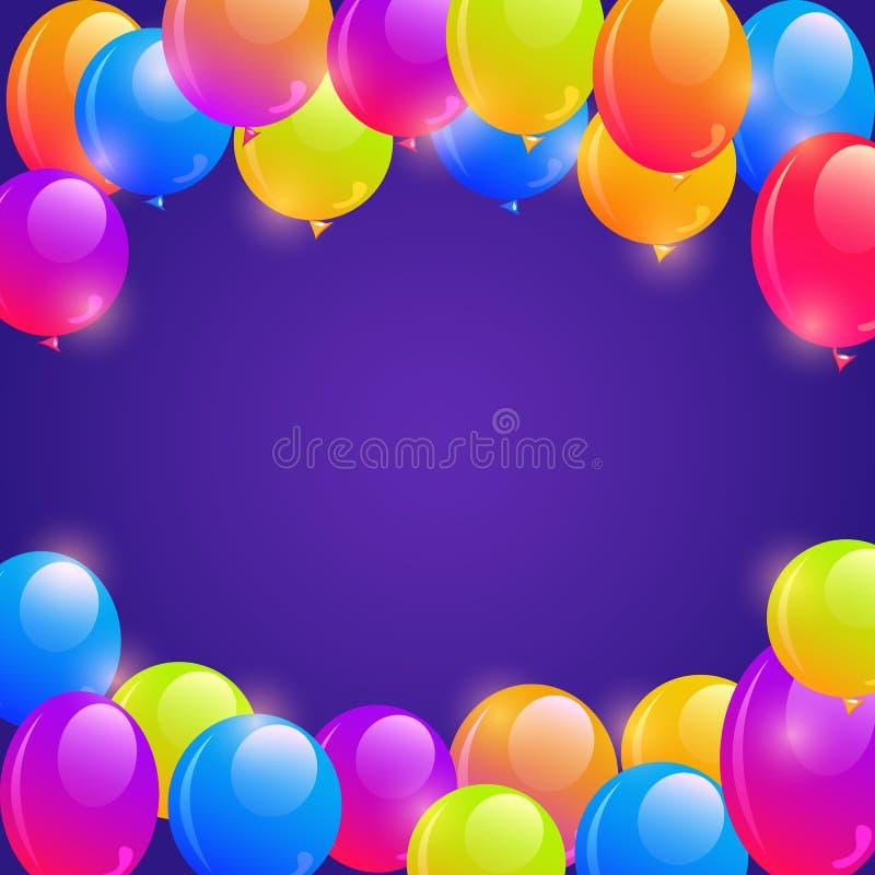 Heller Ballon-Rahmen-Hintergrund Vektor Abbildung - Illustration von ...