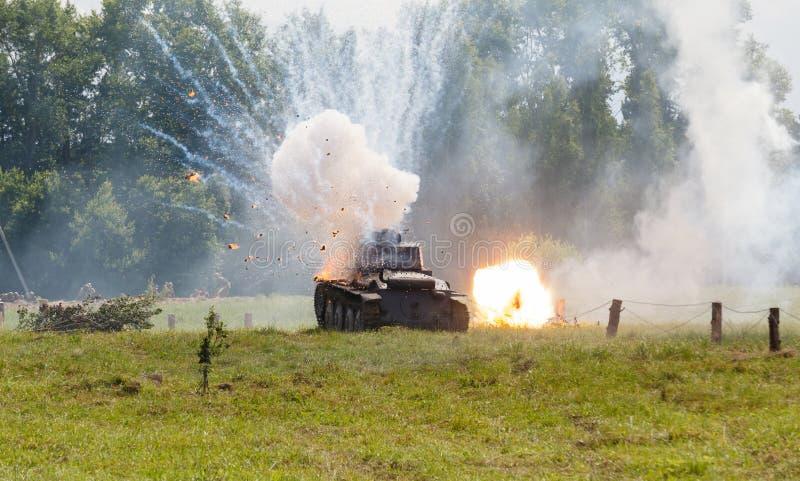 Heller Behälter Deutscher WW2 Panzer 38 (T) Stockbild - Bild von ...