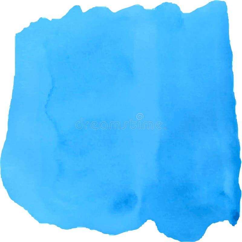 Heller blauer Aquarellfleck auf weißem Hintergrund vektor abbildung