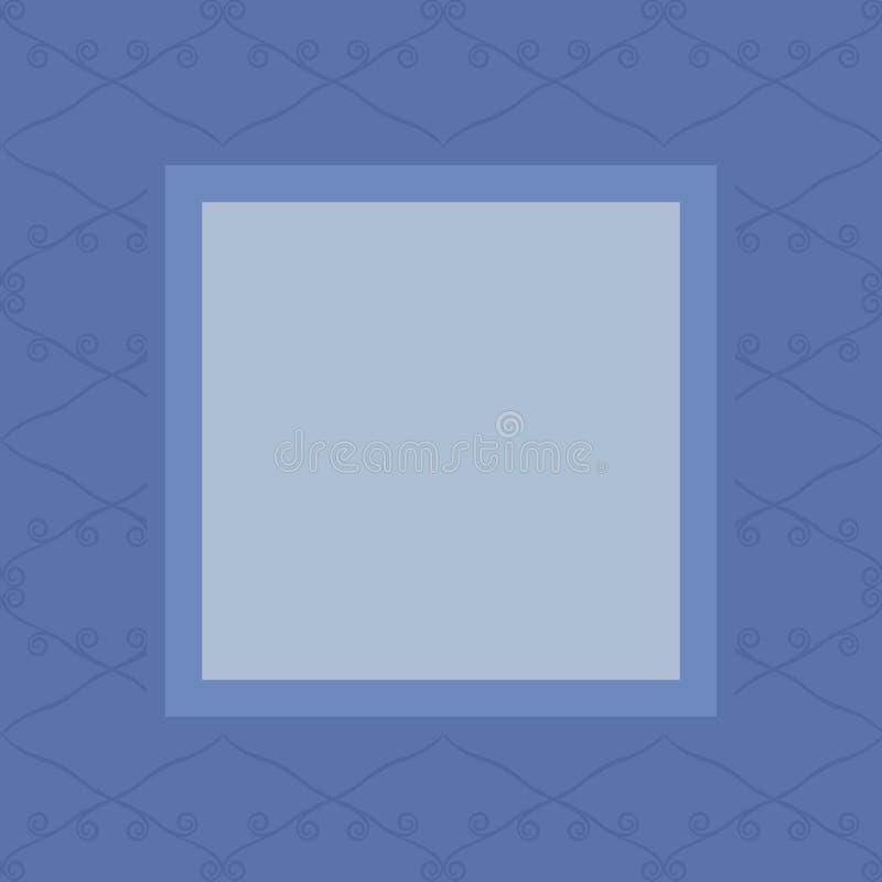 Heller blauer Retro- nahtloser Vektorhintergrund von gesättigten dunkelblauen Rauten zeichnet und kräuselt sich auf einem hellere vektor abbildung