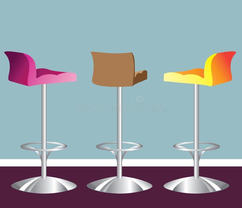 Heller Designerstuhl des hohen Barhockers stock abbildung