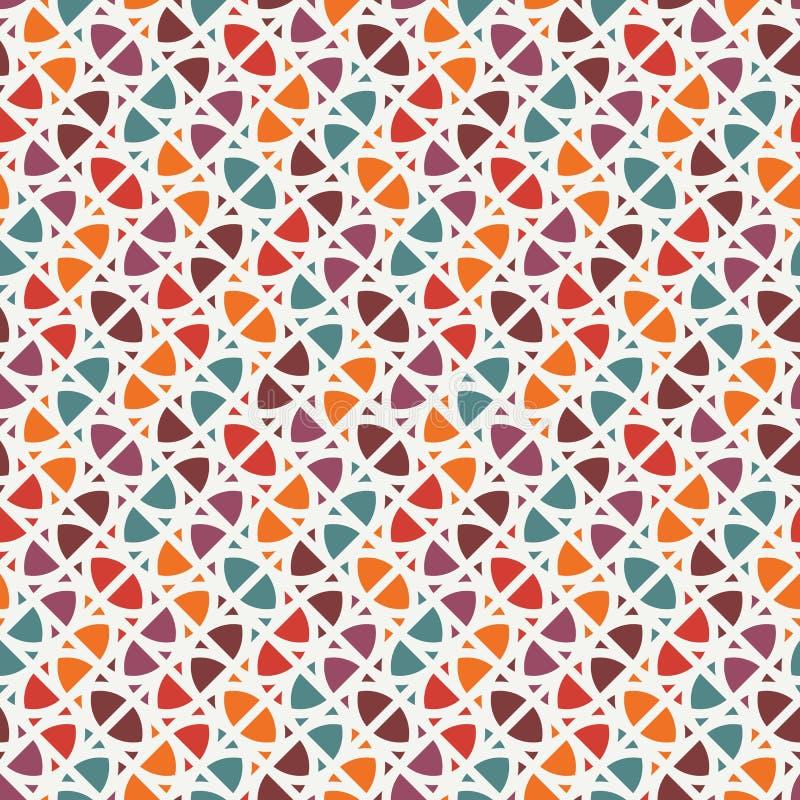 Heller Druck mit geometrischen Formen Zeitgenössischer abstrakter Hintergrund mit wiederholten Zahlen Buntes nahtloses Muster stock abbildung