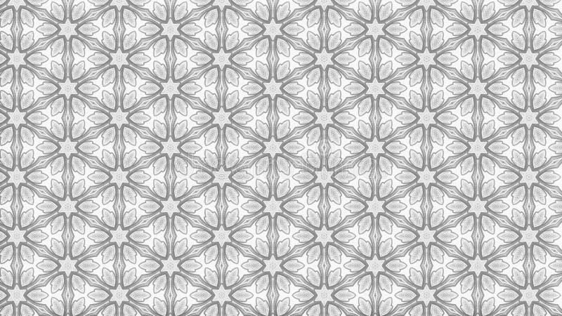Heller eleganter Hintergrund Entwurf der grafischen Kunst Illustration Gray Decorative Pattern Background Beautifuls lizenzfreie abbildung