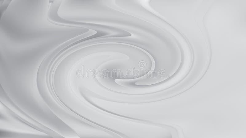 Heller eleganter Hintergrund Entwurf der grafischen Kunst Illustration Grey Swirl Background Beautifuls lizenzfreie abbildung